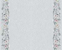 <!--9090-->Lewis &amp; Irene - Snow Day Double Border On Silver (with pearlescent detailing), per fat quarter