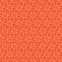 <!--3236-->Makower UK - Sundance Swirly Whirly in Orange, per fat quarter