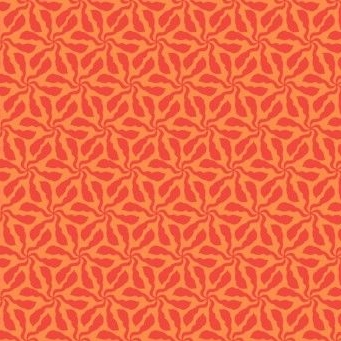 Makower UK - Sundance Swirly Whirly in Orange, per fat quarter