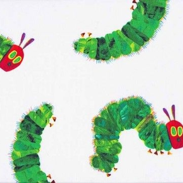 Makower UK - The Very Hungry Caterpillar Large Scatter, per fat quarter