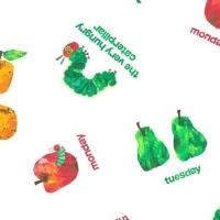 <!--3132-->Makower UK - The Very Hungry Caterpillar Days of The Week, per fat quarter