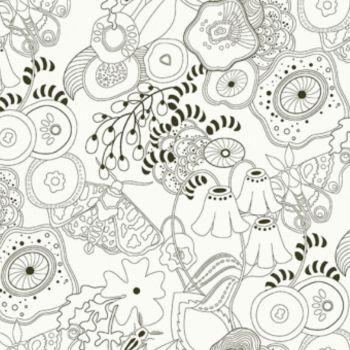 Makower UK - Alison Glass Remix Grow in Charcoal, per fat quarter