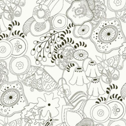 <!--3034-->Makower UK - Alison Glass Remix Grow in Charcoal, per fat quarte