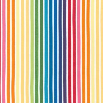 Robert Kaufman - Remix Bold Stripe in Bright, per fat quarter