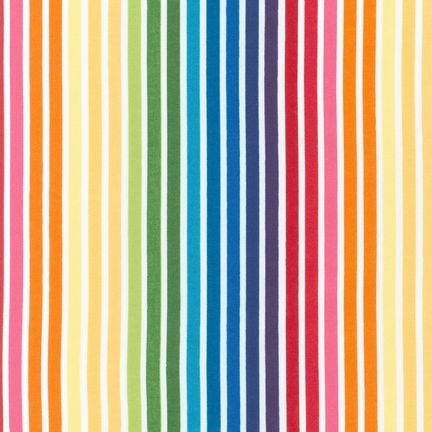 <!--5400-->Robert Kaufman - Remix Bold Stripe in Bright, per fat quarter