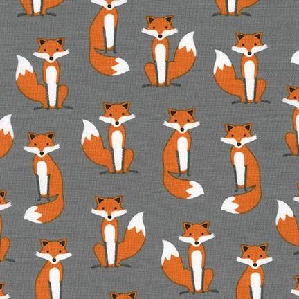 <!--5409-->Robert Kaufman - Fabulous Foxes in Grey, per fat quarter