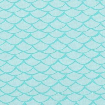 Robert Kaufman - Flamingo Paradise Waves on Turquoise, per fat quarter