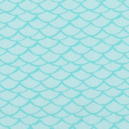 <!--5416-->Robert Kaufman - Flamingo Paradise Waves on Turquoise, per fat q