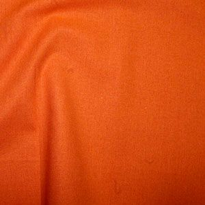 Rose & Hubble True Craft Cotton - Plain in Orange - 18, per fat quarter