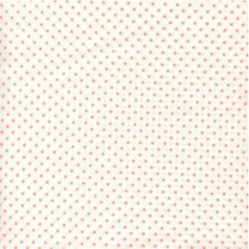 Sevenberry - Pin Spot - Pink on White, per fat quarter