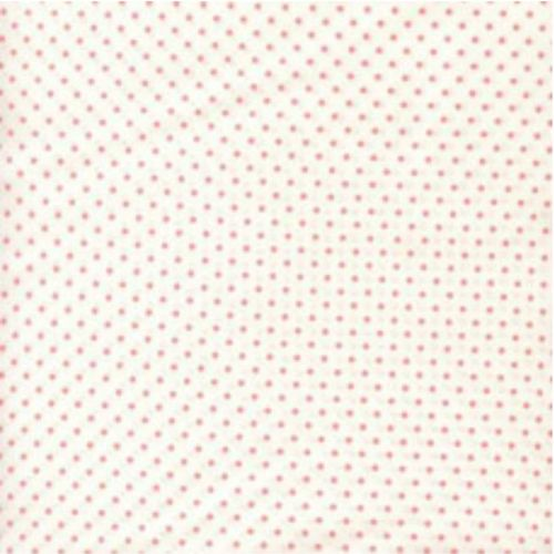 <!--2880-->Sevenberry - Pin Spot - Pink on White, per fat quarter