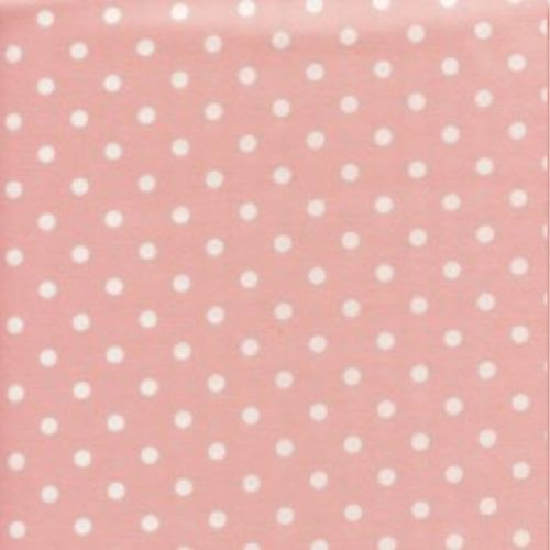 <!--2881-->Sevenberry - 5mm Spot - White on Pink, per fat quarter