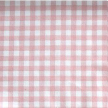 Sevenberry - 8mm Gingham - Pink on White, per fat quarter