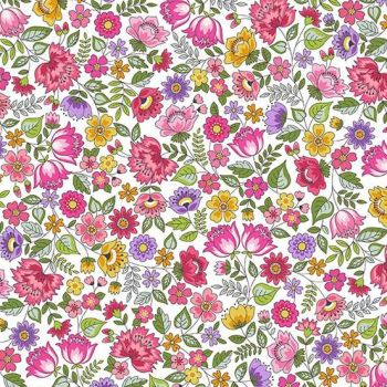 Makower UK - Bloom - Chintz in Pink, per fat quarter