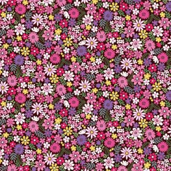 Makower UK - Bloom - Packed Flowers in Pink, per fat quarter