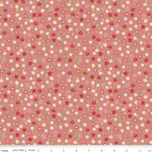 Riley Blake - Vintage Adventure  - Floral in Pink, per fat quarter