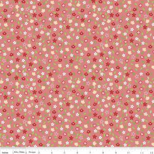 <!--5458-->Riley Blake - Vintage Adventure  - Floral in Pink, per fat quart
