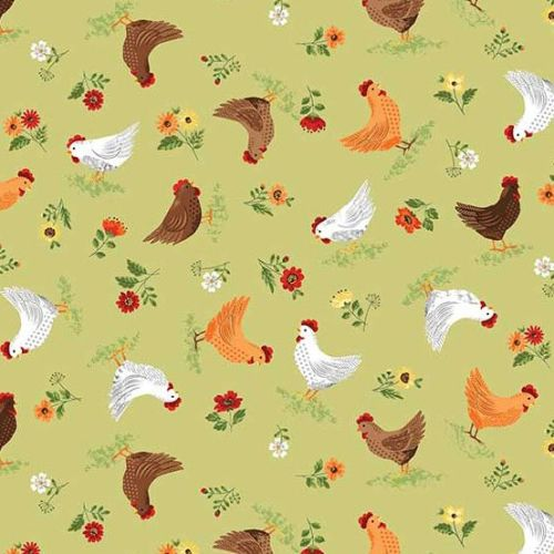 <!--3262-->Makower UK - The Good Life - Hens, per fat quarter