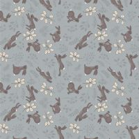 <!--4249-->Lewis &amp; Irene - Water Meadow - Hares in Grey, per fat quarter