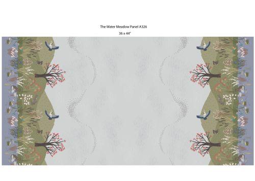 <!--4250-->Lewis & Irene - Water Meadow - Hares in Grey, per fat quarter
