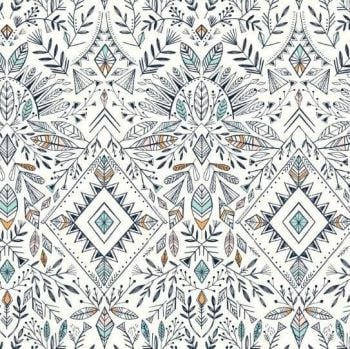 Dashwood Studios - Boho Aztec on White, per fat quarter