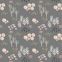<!--5026-->Dashwood Studios - Dovestone - Floral on Grey, per fat quarter