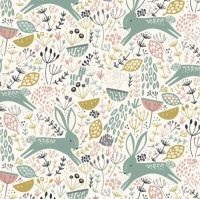 <!--5028-->Dashwood Studios - Dovestone - Rabbits on Cream, per fat quarter