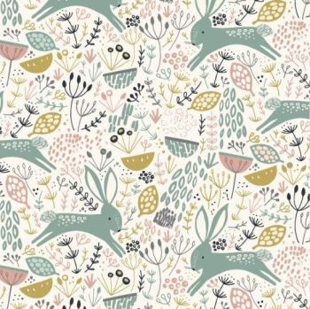 Dashwood Studios - Dovestone - Rabbits on Cream, per fat quarter