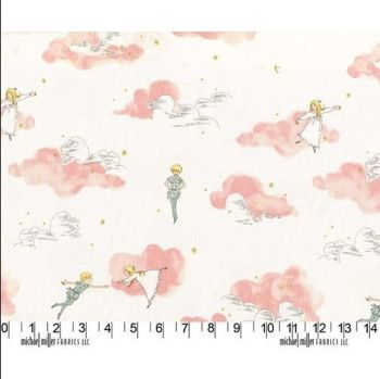 Michael Miller Fabrics - Peter Pan - Peter Pan & Wendy in Blossom Pink, per fat quarter