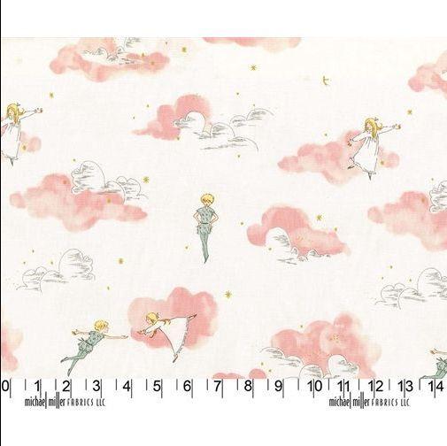 <!--5305-->Michael Miller Fabrics - Peter Pan - Peter Pan & Wendy in Blosso