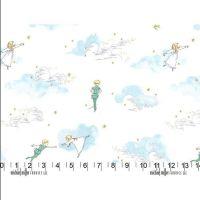 <!--5307-->Michael Miller Fabrics - Peter Pan - Peter Pan &amp; Wendy in Cloud, per fat quarter