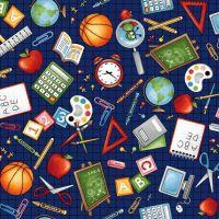 <!--5363-->Studio E - School Zone Icons, per fat quarter