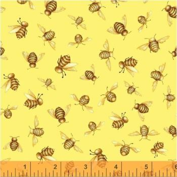 Windham Fabrics - Cottage Joy - Bees in Yellow, per fat quarter