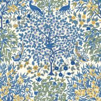 <!--7008-->Liberty Of London - Orchard Garden - Pheasant Forest in Blue (X), per fat quarter