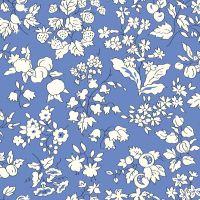 <!--7011-->Liberty Of London - Orchard Garden -  Fruit Silouhette in Blue (X), per fat quarter