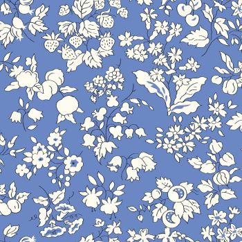Liberty Of London - Orchard Garden -  Fruit Silouhette in Blue (X), per fat quarter