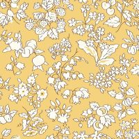 <!--7012-->Liberty Of London - Orchard Garden - Fruit Silouhette in Yellow (W), per fat quarter