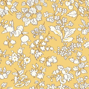 Liberty Of London - Orchard Garden - Fruit Silouhette in Yellow (W), per fat quarter