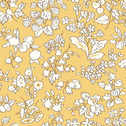 <!--7012-->Liberty Of London - Orchard Garden - Fruit Silouette in Yellow (