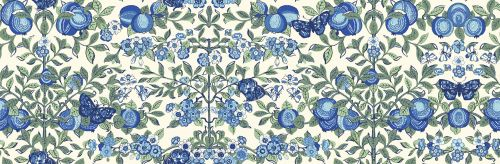 <!--7013-->Liberty Of London - Orchard Garden - Orchard in Blue (x), per fa