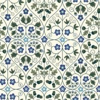 <!--7014-->Liberty Of London - Orchard Garden - Garden Gates in Blue (X), per fat quarter