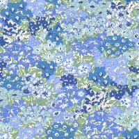 <!--7015-->Liberty Of London - Orchard Garden - Wisley Grove in Blue (x), per fat quarter