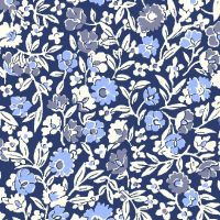 <!--7016-->Liberty Of London - Orchard Garden - Primula Dawn in Blue (x), per fat quarter