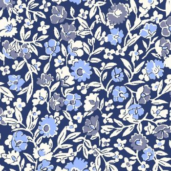 Liberty Of London - Orchard Garden - Primula Dawn in Blue (x), per fat quarter