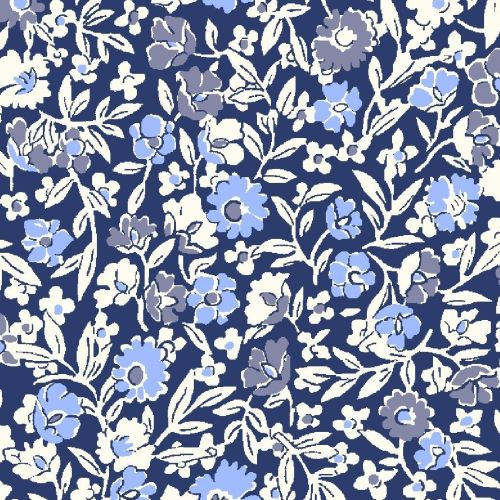 <!--7016-->Liberty Of London - Orchard Garden - Primula Dawn in Blue (x), p