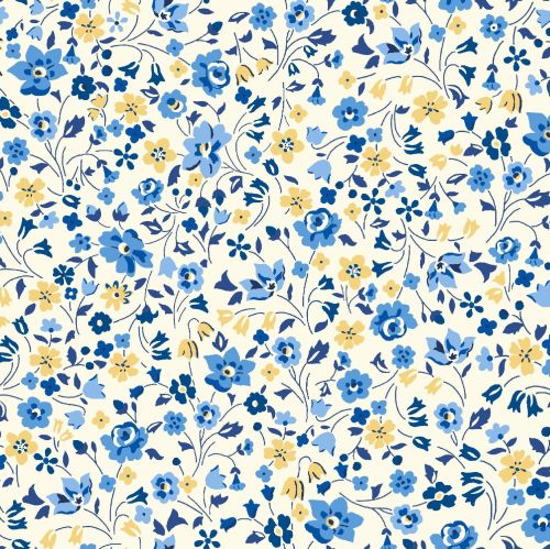 <!--7017-->Liberty Of London - Orchard Garden - KImberley & Sarah in Blue (