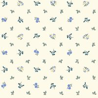 <!--7018-->Liberty Of London - Orchard Garden - Pomme Blossom in Blue (x), per fat quarter
