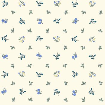 Liberty Of London - Orchard Garden - Pomme Blossom in Blue (x), per fat quarter