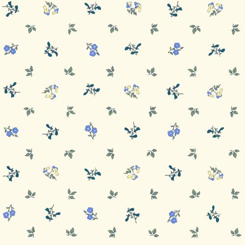 <!--7018-->Liberty Of London - Orchard Garden - Pome Blossom in Blue (x), p