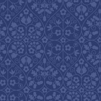 <!--7019-->Liberty Of London - Orchard Garden - Gated Shadow in Blue (X), per fat quarter